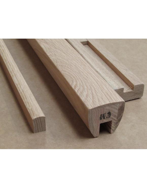 AXXYS 4.2m Squared Oak Handrail and Base Rail Kit 4200mm image