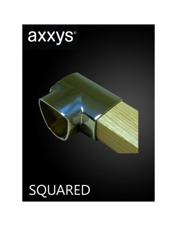 AXXYS Squared Stair Chrome 90 degree Connector image