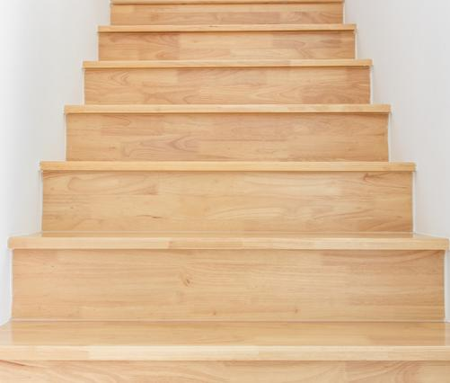 Oak stairs and a great example of stair nosing.