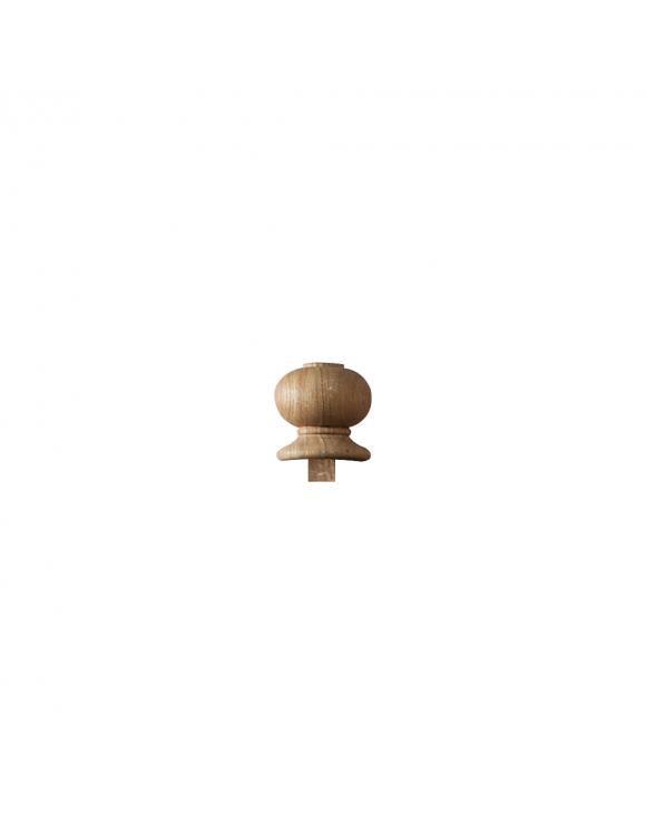 Oak Contemporary Pin Top Newel Post Cap image