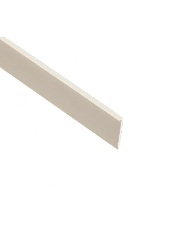 White PVC Plastic Lipping image