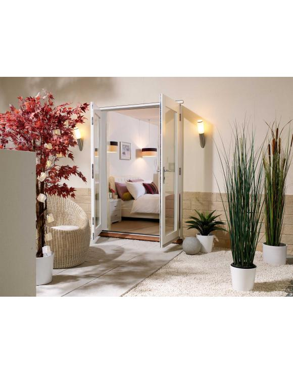 NUVU External French Pre-finished White Doorset image