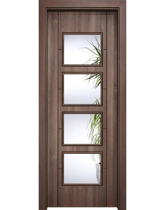 Vancouver Glazed Dark Amati Interior Doorset image