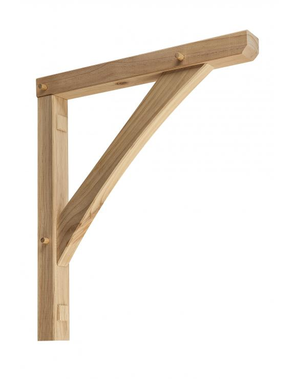Softwood Porch Gallows Brackets image