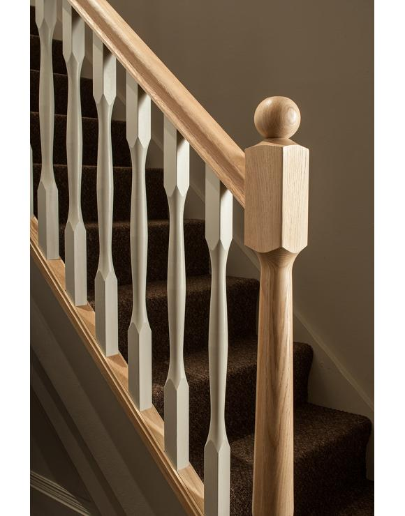 90mm Slender Quays Stair Newel Post with Spigot Select Timber and Type image