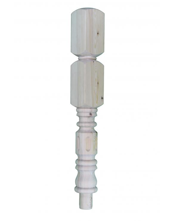 Pine Fluted Rolling Pin Spigot Newel Post image