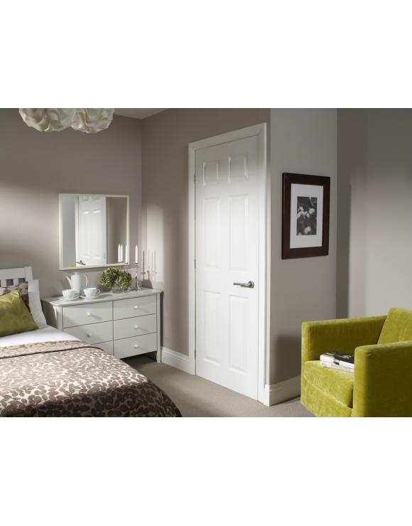 White Moulded Pre Finished Colonist Internal Door image