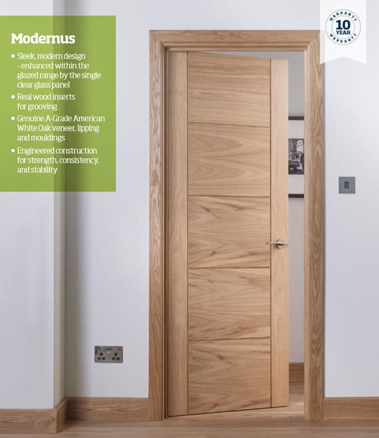 Modernus 5 Panel Oak Internal Door Blueprint Joinery
