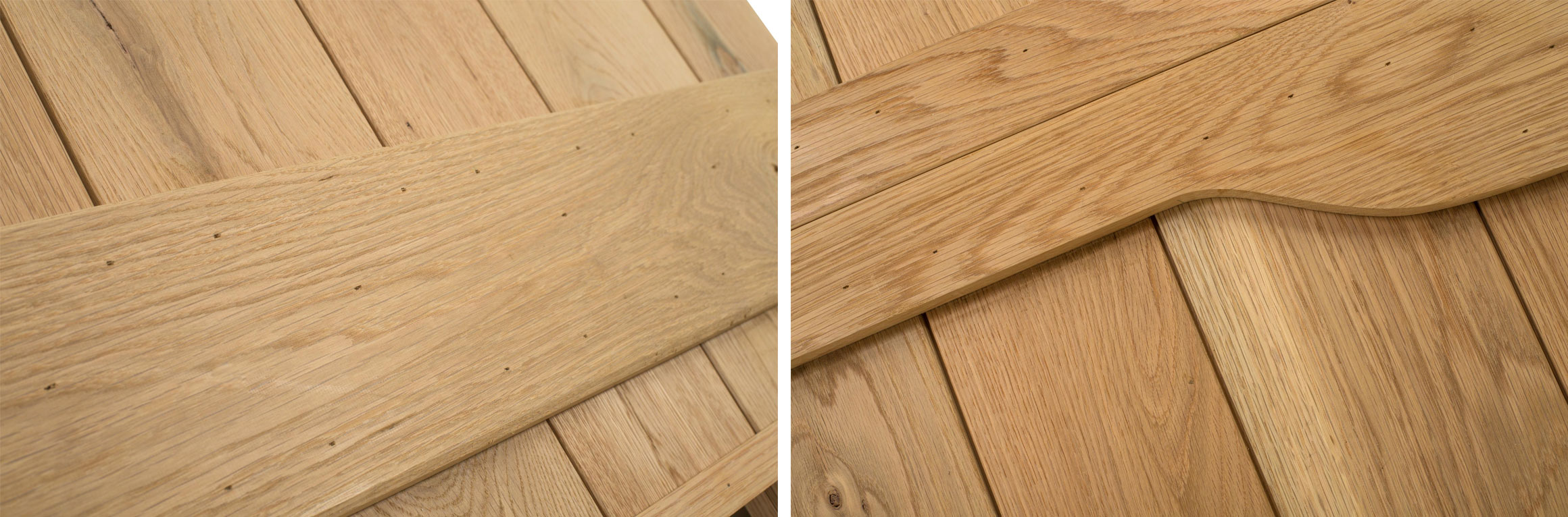 An example of a v-groove Oak door profile.