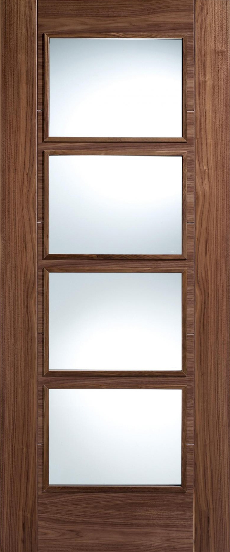 Vancouver glazed walnut interior door - Lpd doors brochure ...