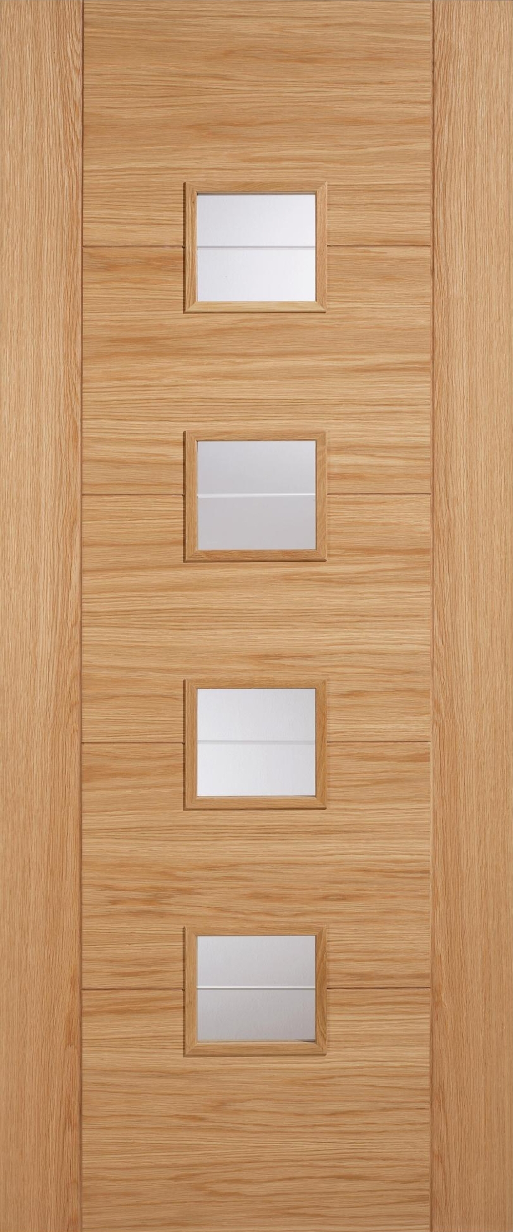 Vancouver 4L Glazed Oak Interior Door image & Vancouver 4 Light Glazed Oak Interior Door