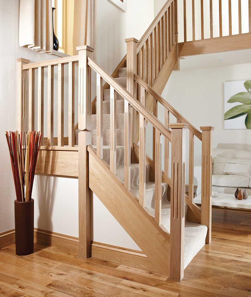 Chamfered And Fluted Stair Spindle