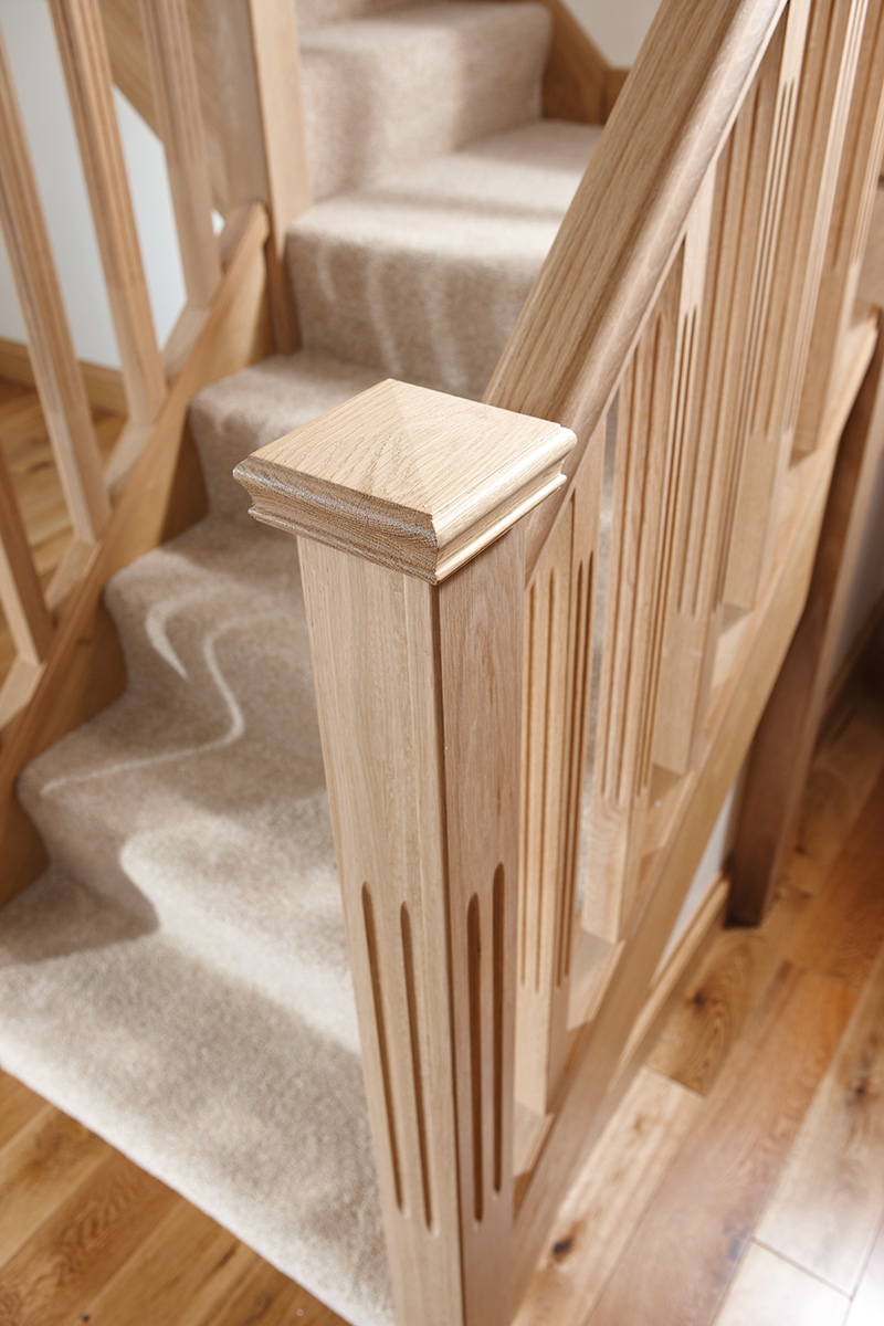 ... 41mm Square Double Fluted Reeded Stair Spindle Image ...