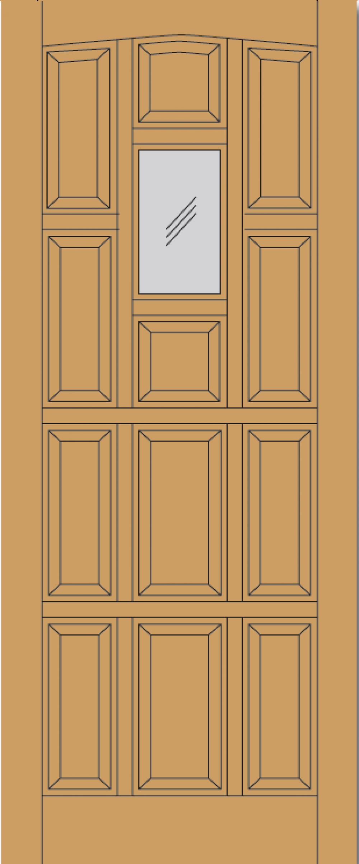 Nice Elizabethan Dowel Hardwood Exterior Door Image