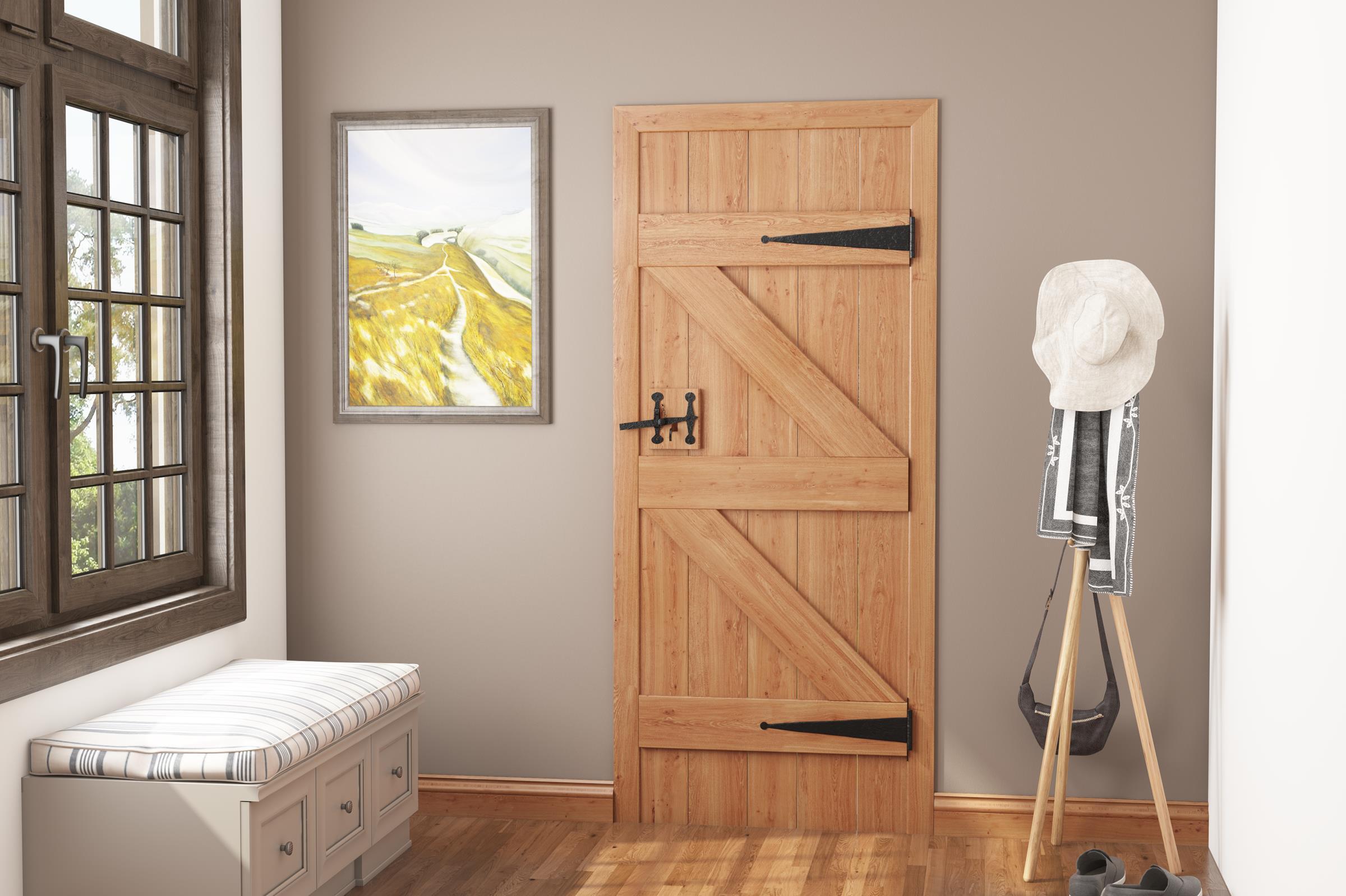 ... Solid Oak Ledged And Braced Cottage Door Image ...