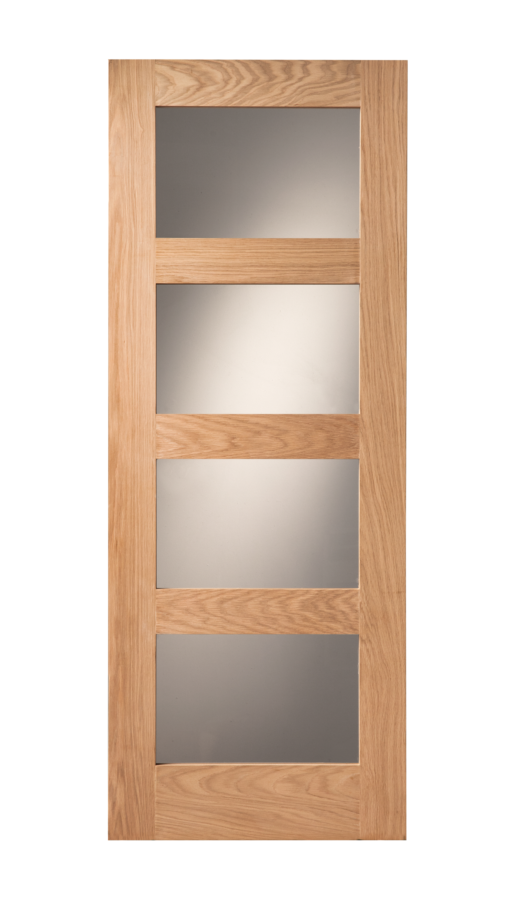 Ordinaire Cheshire 4 Light Shaker Clear Glazed Oak Internal Door Image ...