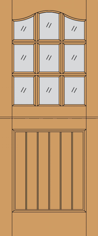 Stable 9L Dowel Hardwood Exterior Door Image