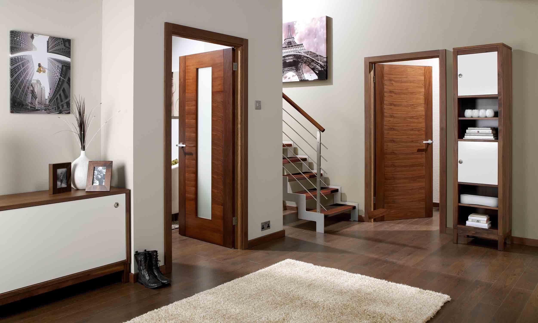 ... Europa Flush Aragon Walnut Interior Door Image